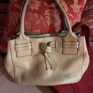 Talbots genuine leather satchel bag